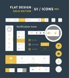 Flache Ausrüstung ui Design des Vektors für webdesign Lizenzfreie Stockfotos