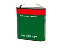 Flache Batterie von 4 5 Volt Lizenzfreies Stockbild
