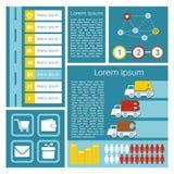 Flache Benutzerschnittstelle UI infographics Schablone, Illustrationselemente, moderner Hintergrund, Lizenzfreies Stockbild