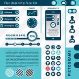 Flache Benutzerschnittstellenausrüstung Stockbilder