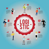 Flache Berufcharaktere des Vektors Lizenzfreies Stockbild