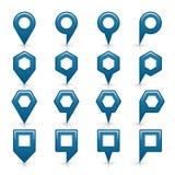 Flache blaue Farbkartestiftvorzeichenstelleikone vektor abbildung