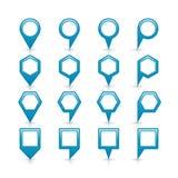 Flache blaue Farbkartestiftvorzeichenstelleikone Stockfotos