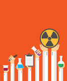 Flache chemische Karte Lizenzfreies Stockfoto