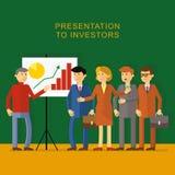 Flache Darstellung zu den Investoren stock abbildung