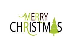 Flache Design-Art-Weihnachtskarte Lizenzfreie Stockfotos