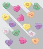 Flache Design-Herz-Süßigkeiten Lizenzfreie Stockfotos