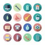 Flache Design-Ikonen für Benutzerschnittstelle Stockbilder