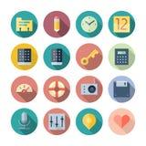 Flache Design-Ikonen für Benutzerschnittstelle Stockbild