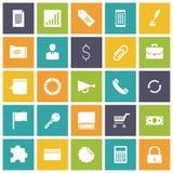 Flache Design-Ikonen für Geschäft Lizenzfreie Stockfotos