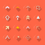 Flache Design-Pfeile eingestellte Vektor-Illustration Stockbilder