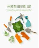 Flache Designfahne für Gärtnerdienste lizenzfreie abbildung