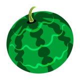 Flache Designikone der Wassermelone in ui Farben Stockfotografie