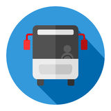 Flache Designikone des Busses Stockfotos