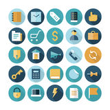 Flache Designikonen für Geschäft und Finanzierung Lizenzfreie Stockbilder