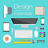Flache Designillustration Lizenzfreie Stockbilder