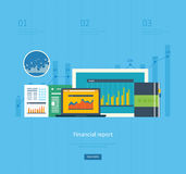 Flache Designillustrationskonzepte für Geschäft Lizenzfreies Stockfoto