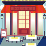 Flache Designrestaurants und -Shops Stockfotografie