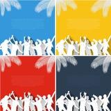 Flache Designsammlung Musikhintergrund Stockbilder