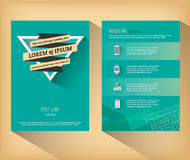 Flache Designschablone der abstrakten Dreieckbroschüre Lizenzfreies Stockbild