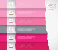 Flache Designschablone mit farbigen Streifen Stockfoto