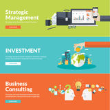 Flache Designvektor-Illustrationskonzepte für Geschäft Stockfoto
