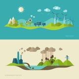 Flache Designvektor-Konzeptillustration Lizenzfreies Stockfoto