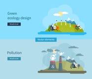 Flache Designvektor-Konzeptillustration mit Ikonen Lizenzfreies Stockfoto