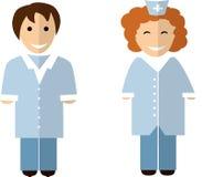 Flache Doktorcharaktere lizenzfreie abbildung