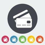 Flache einzelne Ikone der Kreditkarte Stockbilder