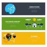 Flache entworfene Fahnen Lizenzfreie Stockfotos