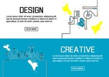 Flache entworfene Fahnen für Design und kreativ Vektor vektor abbildung