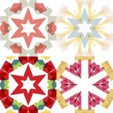 Flache ethnische nahtlose Muster Stockbilder
