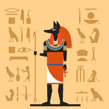 Flache Fahne Anubis Lizenzfreie Stockbilder