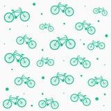 Flache Fahrräder, sauberes Muster/Hintergrund einfach Stockbilder