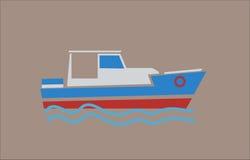 Flache Farben des Bootes Stockfotos