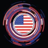 Flache Flaggenikone USA Lizenzfreies Stockbild