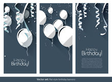 Flache Geburtstagsfahnen Stockfotos