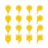 Flache gelbe Farbkartestiftvorzeichenstelleikone Stockbild