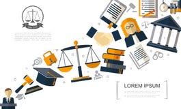 Flache Gerechtigkeits-bunte Schablone lizenzfreie abbildung