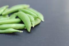 Flache grüne Bohnen-Seite Stockbilder