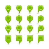 Flache grüne Farbkartestiftvorzeichenstelleikone vektor abbildung