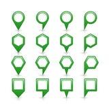 Flache grüne Farbkartestiftvorzeichenstelleikone stock abbildung