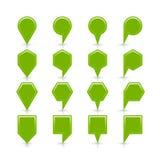 Flache grüne Farbkartestiftvorzeichenstelleikone Stockfotos