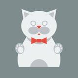 Flache graue Katze Stockfoto