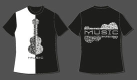 Flache Identitätsmodellschablone des T-Shirts Stockbilder
