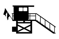 Flache Ikone Baywatch-Hauses Auch im corel abgehobenen Betrag Lizenzfreie Stockfotos