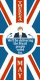 Flache Ikone der Frau mit Theresa May-Zitat Lizenzfreie Stockfotografie