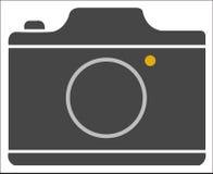 Flache Ikone der Kamera Stockfoto