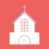 Flache Ikone der Kirche mit eps10 Lizenzfreie Stockbilder